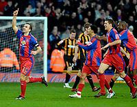 Photo: Alan Crowhurst.<br />Crystal Palace v Hull City. Coca Cola Championship. 20/01/2007. Palace's Carl Fletcher (L) celebrates his goal 1-0.