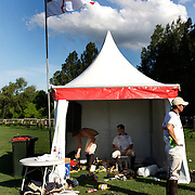 'A Day at the Polo'<br /> The England team prepare for competition during the International Polo Test match between Australia and England at the Windsor Polo Club, Richmond, Sydney, Australia on March 29, 2009. Australia won the match 8-7.  Photo Tim Clayton