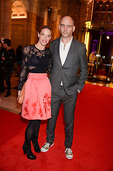 DINOS CHAPMAN and TIPHAINE DE LUSSY at the WGSN Global Fashion Awards held at the V&A museum, London on 30th October 2013.