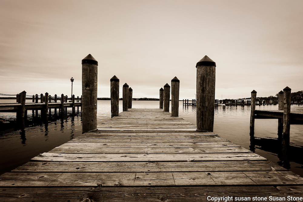 Sepia Wayzata dock image Lake Minnetonka, Minnesota black and white  photos
