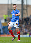 Portsmouth midfielder Danny Hollands during the Sky Bet League 2 match between Portsmouth and Carlisle United at Fratton Park, Portsmouth, England on 2 April 2016. Photo by Adam Rivers.
