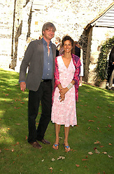 The MARQUESS & MARCHIONESS OF WORCESTER she was actress Tracey Ward at the wedding of musician Jools Holland to Lady Crystabel Durham held at Cooling Village Church, Cooling, Kent on 30th August 2005.<br />