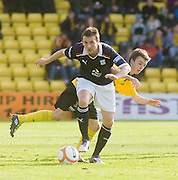 Dundee trailist Kevin McBride goes past Livingston's Stefan Scougall - Livingston v Dundee, IRN BRU Scottish Football League, First Division - ..© David Young - .5 Foundry Place - .Monifieth - .Angus - .DD5 4BB - .Tel: 07765 252616 - .email: davidyoungphoto@gmail.com.web: www.davidyoungphoto.co.uk