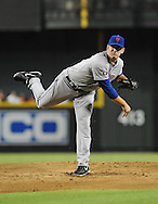 Jul. 26, 2012; Phoenix, AZ, USA; New York Mets pitcher Matt Harvey (33) pitches during the game against the Arizona Diamondbacks in the first inning at Chase Field.  Mandatory Credit: Jennifer Stewart-US PRESSWIRE