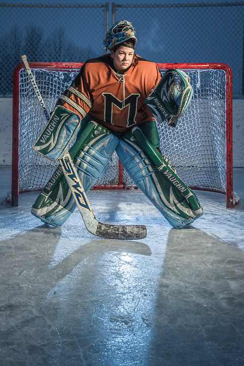 "Retired professional hockey goalie, O'Hara Shipe, Anchorage.  ""I have to stop this nonsense, my body is a disaster area."""