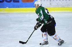 Klemen Sodrznik at ice hockey match between Toja Olimpija and Stavbar Maribor,  on November 19, 2008 in Arena Tivoli, Ljubljana, Slovenia. Stavbar Maribor won the match 3:2.  (Photo by Vid Ponikvar / Sportida)