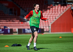 SOUTHAMPTON, ENGLAND - Thursday, April 5, 2018: Wales' Helen Ward during a training session at St. Mary's Stadium ahead of the FIFA Women's World Cup 2019 Qualifying Round Group 1 match against England. (Pic by David Rawcliffe/Propaganda)