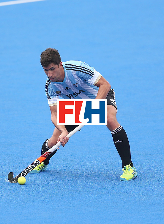 LONDON, ENGLAND - JUNE 24: Ignacio Ortiz of Argentina in action during the semi-final match between Argentina and Malaysia on day eight of the Hero Hockey World League Semi-Final at Lee Valley Hockey and Tennis Centre on June 24, 2017 in London, England. (Photo by Steve Bardens/Getty Images)