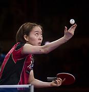 Kasumi Ishikawa (JPN), APRIL 23, 2017 - Table Tennis : Kasumi Ishikawa of Japan in action during the 2017 ITTF World Tour Korea Open Table Tennis, Women's Singles Final in Incheon, South Korea. Photo by Lee Jae-Won (SOUTH KOREA) www.leejaewonpix.com