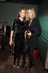 Left to right, ROSAMUND PIKE and DONNA AIR at a party to celebrate the 10th Anniversary of Claridge's Bar, Claridge's Hotel, Brook Street, London on 11th November 2008.