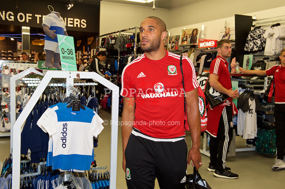 CARDIFF, WALES - Thursday, June 2, 2016: Wales' captain Ashley Williams during a visit to a JD Sports store in Llantrisant. (Pic by Ian Cook/Propaganda)