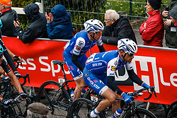 Peloton with MARTIN Daniel of Quick-Step Floors during 2nd lap on local circuit, UCI Men WorldTour 81st La Flèche Wallonne at Huy Belgium, 19 April 2017. Photo by Pim Nijland / PelotonPhotos.com | All photos usage must carry mandatory copyright credit (Peloton Photos | Pim Nijland)