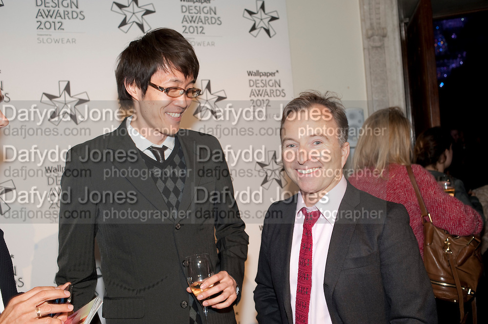 OKI SATO; TONY CHAMBERS, Wallpaper Design Awards 2012. 10 Trinity Square<br /> London,  11 January 2011.