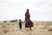 Women walk for miles to come to the Merlin outreach clinic. Therse clinics provide immunisations and nutrition support and advice.