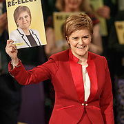 SNP Leader Nicola Sturgeon launches the party's Scottish Parliament election manifesto– setting out an ambitious, reforming and transformational plan for Scotland which the SNP will pursue if re-elected for a historic third term in office. <br /> April 20th 2016 in Edinburgh, Scotland.