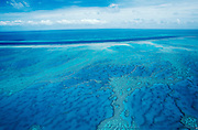 Helicopter flight over Great Barrier Reef.