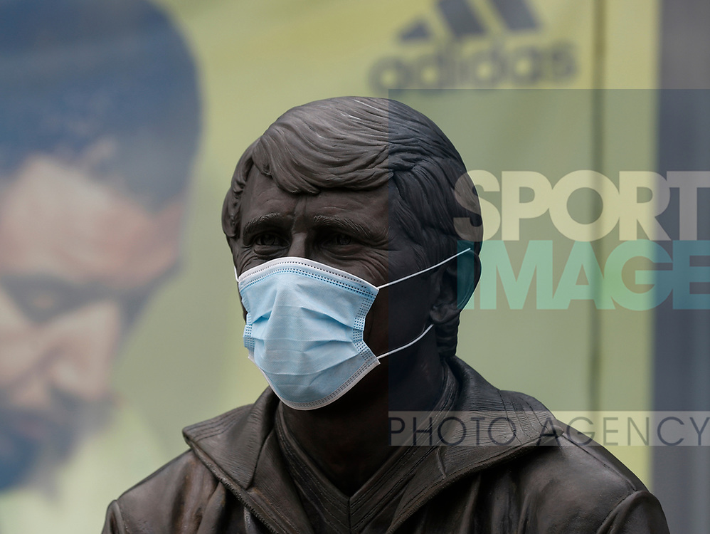 The statue of Watford legend Graham Taylor with a face mask before the Premier League match at Vicarage Road, Watford. Picture date: 20th June 2020. Picture credit should read: Darren Staples/Sportimage