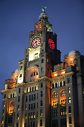 Liver Building; Liverpool waterfront,