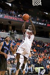 Virginia Cavaliers guard/forward Solomon Tat (45) shoots against Longwood.  The Virginia Cavaliers Men's Basketball Team defeated Longwood University 90-49 at the John Paul Jones Arena in Charlottesville, VA on February 13, 2007.