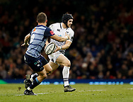 Ospreys' Dan Evans looks to pass<br /> <br /> Photographer Simon King/Replay Images<br /> <br /> Guinness PRO14 Round 21 - Cardiff Blues v Ospreys - Saturday 28th April 2018 - Principality Stadium - Cardiff<br /> <br /> World Copyright © Replay Images . All rights reserved. info@replayimages.co.uk - http://replayimages.co.uk
