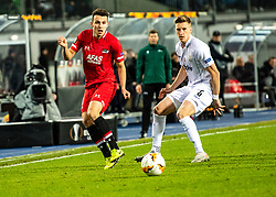 27.02.2020, Linzer Stadion, Linz, AUT, UEFA EL, LASK vs AZ Alkmaar, Sechzehntelfinale, im Bild v.l. Oussama Idrissi (AZ Alkmaar), Philipp Wiesinger (LASK) // v.l. Oussama Idrissi (AZ Alkmaar), Philipp Wiesinger (LASK) during the UEFA Europa League round of the last 32, 2nd leg match between LASK and AZ Alkmaar at the Linzer Stadion in Linz, Austria on 2020/02/27. EXPA Pictures © 2020, PhotoCredit: EXPA/ Reinhard Eisenbauer
