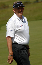 ©  licensed to London News Pictures. . UK.20/05/2011    Today.Colin Montgomerie Ryder Cup winning Captain with the trophy at Golf Live Event, held at The London Golf Club Kent, just before giving his Monty's Masterclass...Please see special instructions..Picture credit should read Grant Falvey/LNP......