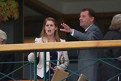 LONDON, ENGLAND - Tuesday, June 28, 2011: Beatrice Elizabeth Mary Windsor, Princess Beatrice of York, looks out from the balcony of the Centre Court Clubhouse on day eight of the Wimbledon Lawn Tennis Championships at the All England Lawn Tennis and Croquet Club. (Pic by David Rawcliffe/Propaganda)