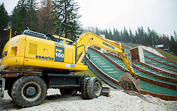Reconstruction of Planica's Ski Flying Hill, on November 11, 2014 in Planica Nordic centre, Slovenia. Photo by Vid Ponikvar / Sportida
