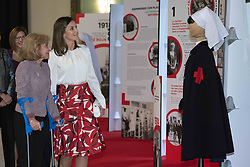 November 20, 2018 - Madrid, Spain - Spain Queen Letizia  visits an exhibition during the main event to mark the centenary of the Nursing College and the St. John and St. Adela's Red Cross Central Hospital in Madrid, Spain, 20 November 2018. (Credit Image: © Oscar Gonzalez/NurPhoto via ZUMA Press)