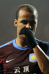 21.11.2011, White Hart Lane Stadion, London, ENG, PL, Tottenham Hotspur vs Aston Villa, 12. Spieltag, im Bild Aston Villa's Gabriel Agbonlahor looks dejected during the football match of English premier league, 12th round, between Tottenham Hotspur and Aston Villa at White Hart Lane Stadium, London, United Kingdom on 21/11/2011. EXPA Pictures © 2011, PhotoCredit: EXPA/ Sportida/ Chris Brunskill..***** ATTENTION - OUT OF ENG, GBR, UK *****