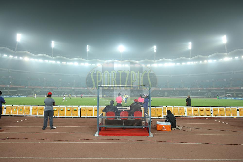 GV, Branding during match 53 of the Indian Super League (ISL) season 2  between Delhi Dynamos FC and Kerala Blasters FC held at the Jawaharlal Nehru Stadium, Delhi, India on the 3rd December 2015.<br /> <br /> Photo by Saikat Das  / ISL/ SPORTZPICS
