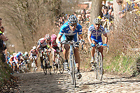 Hincapie leading on the Koppenberg