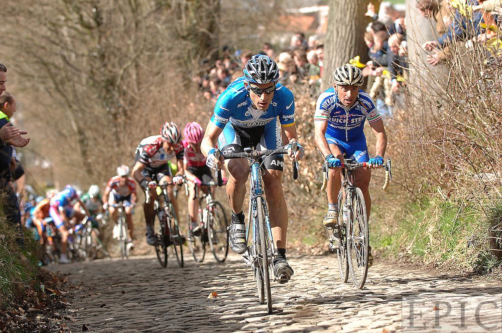 Hincapie leading on the Koppenberg