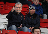 Chelsea fan with a Jose Mourinho mask prior to the Barclays Premier League match against Stoke City at the Britannia Stadium, Stoke-on-Trent.<br /> Picture by Michael Sedgwick/Focus Images Ltd +44 7900 363072<br /> 07/11/2015