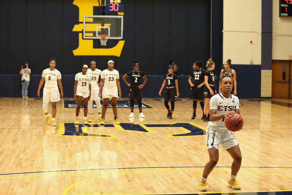 November 10, 2017 - Johnson City, Tennessee - Brooks Gym: ETSU guard Tianna Tarter (15)<br /> <br /> Image Credit: Dakota Hamilton/ETSU