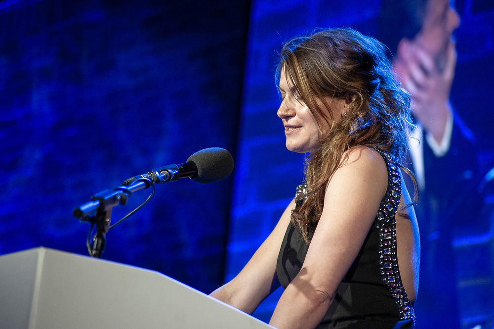 Georgia Mann of BBC Radio 3<br /> Co- host (with Petroc Trelawney) of the RPS Music Awards <br /> London, Tuesday 9 May<br /> Photographed at the RPS Music Awards, London, Tuesday 9 May<br /> Photo credit required:  Simon Jay Price<br /> www.rpsmusicawards.com  #RPSMusicAwards