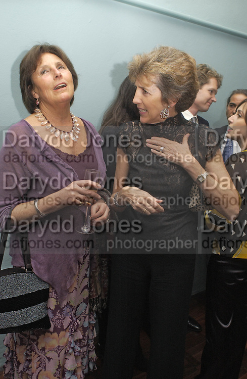 Lady Annabel Lindsay and Jane Churchill. , Tom Parker Bowles, Susan Hill and Matthew Rice host party to launch 'E is For Eating' Kensington Place. 3 November 2004.  ONE TIME USE ONLY - DO NOT ARCHIVE  © Copyright Photograph by Dafydd Jones 66 Stockwell Park Rd. London SW9 0DA Tel 020 7733 0108 www.dafjones.com
