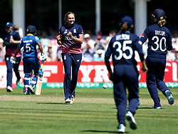 Laura Marsh of England Women celebrates taking the wicket of Harshitha Madhavi of Sri Lanka Women - Mandatory by-line: Robbie Stephenson/JMP - 02/07/2017 - CRICKET - County Ground - Taunton, United Kingdom - England Women v Sri Lanka Women - ICC Women's World Cup Group Stage