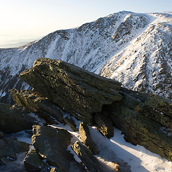A winter view from Lion Head on Mount Washington in New Hampshire USA