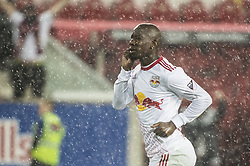 March 1, 2018 - Harrison, New Jersey, United States - New York Red Bulls forward Bradley Wright-Phillips (99) celebrates his goal during the CONCACAF Champions league match at Red Bull Arena in Harrison, NJ.  NY Red Bulls defeat CD Olimpia 2-0  (Credit Image: © Mark Smith via ZUMA Wire)