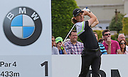 Tommy FLEETWOOD teeing off on the 1st hole during the 4th day of the BMW PGA Championship at Wentworth, Virginia Water, United Kingdom on 24 May 2015. Photo by Ellie  Hoad.
