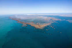 Extensive reefs and sandbanks surround Adele Island off the Kimberley coast.
