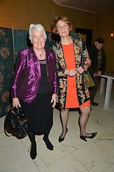 Left to right, MARGARET MOUNTFORD from TV's The Apprentice and entrepreneur MARCELLE SPELLER at a reception to celebrate the Debrett's 500 2015 - a recognition of Britain's 500 most influential people, held at The Club at The Cafe Royal, 68 Regent Street, London on 26th January 2015.