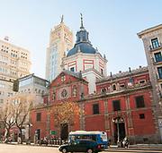 Church of las Calatravas on Calle de Alcala, Madrid, Spain