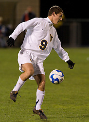 West Virginia forward Paul Paradise (9)..The West Virginia Mountaineers defeated the Virginia Cavaliers 1-0 in the second round of the 2007 NCAA Men's Soccer Tournament at Dick Dlesk Stadium in Morgantown, WV on November 28, 2007.