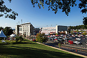 FAYETTEVILLE, AR - OCTOBER12:  Outside of Razorback Stadium before a game between the Arkansas Razorbacks and the South Carolina Gamecocks on October 12, 2013 in Fayetteville, Arkansas.  The Gamecocks defeated the Razorbacks 52-7.  (Photo by Wesley Hitt/Getty Images) *** Local Caption ***