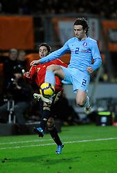 17-11-2009 VOETBAL: JONG ORANJE - JONG SPANJE: ROTTERDAM<br /> Nederland wint met 2-1 van Spanje / Daryl Janmaat en Jordi Alba<br /> ©2009-WWW.FOTOHOOGENDOORN.NL