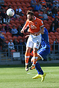 Blackpool Midfielder, Jimmy Ryan (14) during the EFL Sky Bet League 1 match between Blackpool and Oldham Athletic at Bloomfield Road, Blackpool, England on 26 August 2017. Photo by Mark Pollitt.