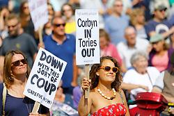 Labour leader Jeremy Corbyn visits a rally on Ramsgate seafront. (c) Charles Saddler 03/09/2016<br /> <br /> (c) CHARLES SADDLER | Edinburgh Elite media