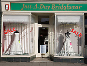 Bridalwear hire shop, Ipswich, Suffolk, England